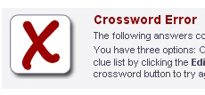 Crossword Error